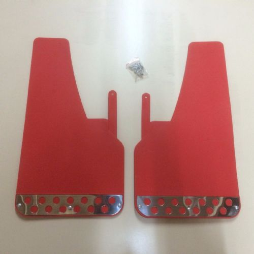 RALLY MUDFLAPS RED PAIR- FORD - VAUXHALL - AUDI